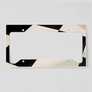 Black & White Checkered Floor License Plate Holder