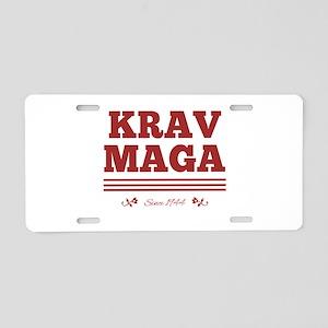 Krav Maga since 1944 red Aluminum License Plate