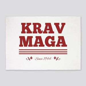 Krav Maga since 1944 red 5'x7'Area Rug