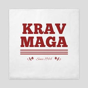 Krav Maga since 1944 red Queen Duvet