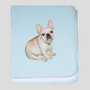 French Bulldog (#2) baby blanket