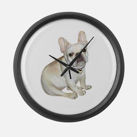 French Bulldog (#2) Large Wall Clock