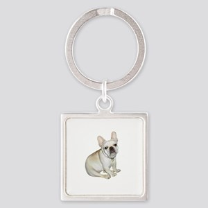 French Bulldog (#2) Square Keychain