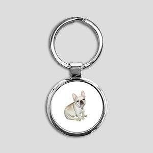 French Bulldog (#2) Round Keychain