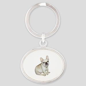 French Bulldog (#2) Oval Keychain