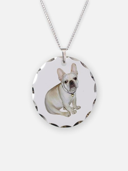 French Bulldog (#2) Necklace Circle Charm