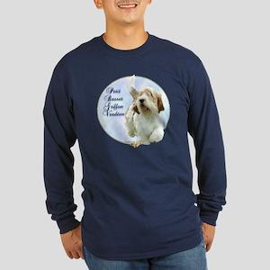PBGV Portrait Long Sleeve Dark T-Shirt