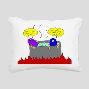 Hot tub Rectangular Canvas Pillow