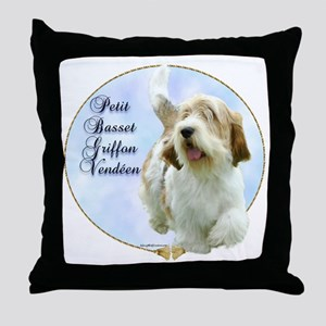 PBGV Portrait Throw Pillow