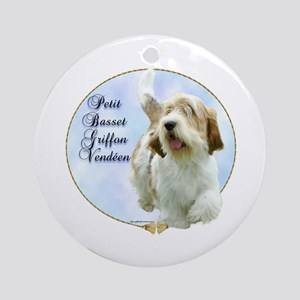 PBGV Portrait Ornament (Round)