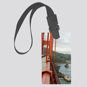 golden gate fence Large Luggage Tag