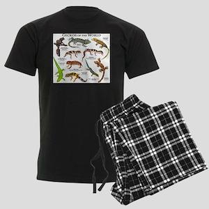 Geckos of the World Men's Dark Pajamas