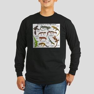 Geckos of the World Long Sleeve Dark T-Shirt