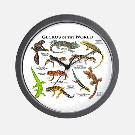 Geckos of the World Wall Clock