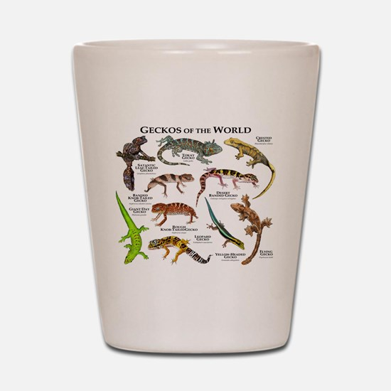Geckos of the World Shot Glass