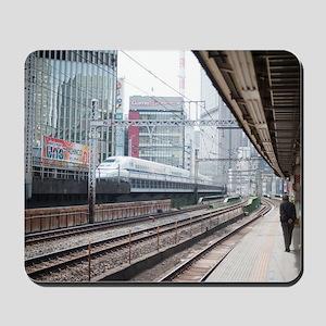 Train station Ginza, Japan Mousepad