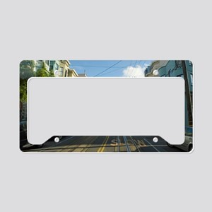 cablecar ride License Plate Holder