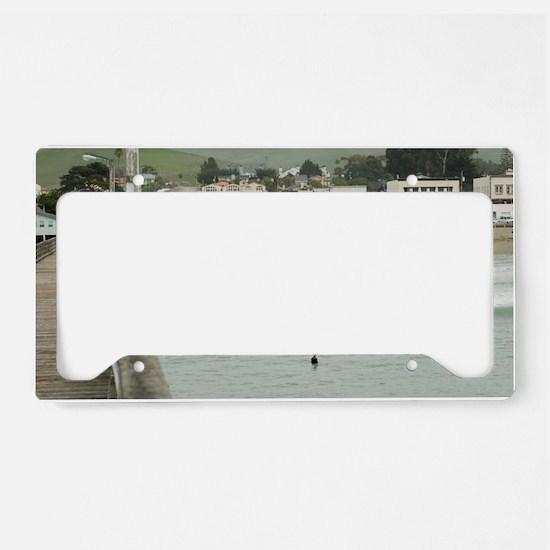Cayucos Pier View License Plate Holder