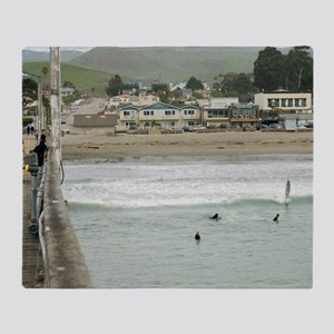 Cayucos Pier View Throw Blanket