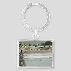 Cayucos Pier View Landscape Keychain