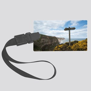 Signpost on the Cleveland Way Large Luggage Tag