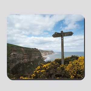 Signpost on the Cleveland Way Mousepad