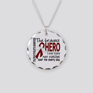 Multiple Myeloma Bravest Her Necklace Circle Charm