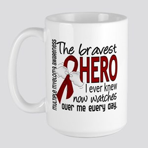 Multiple Myeloma Bravest Hero Large Mug