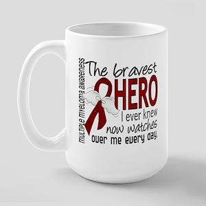 Multiple Myeloma Bravest Hero Large Mug
