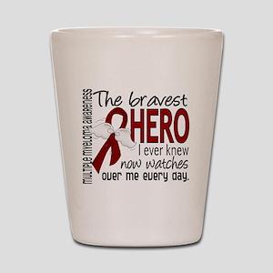 Multiple Myeloma Bravest Hero Shot Glass