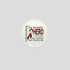 Multiple Myeloma Bravest Hero Mini Button