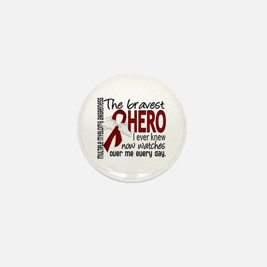 Multiple Myeloma Bravest Hero Mini Button