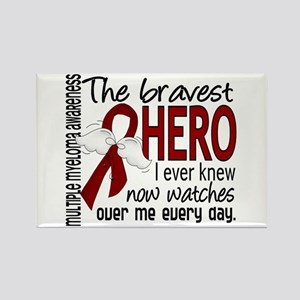 Multiple Myeloma Bravest Hero Rectangle Magnet