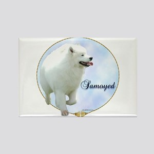 Samoyed Portrait Rectangle Magnet