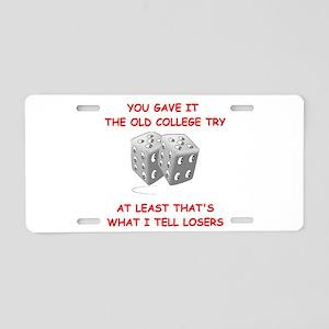 craps Aluminum License Plate