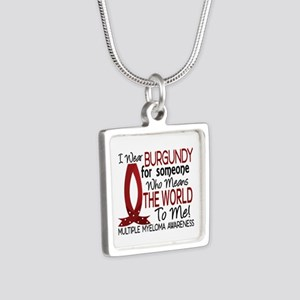 Multiple Myeloma Means Wor Silver Square Necklace