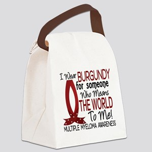 Multiple Myeloma Means World 1 Canvas Lunch Bag