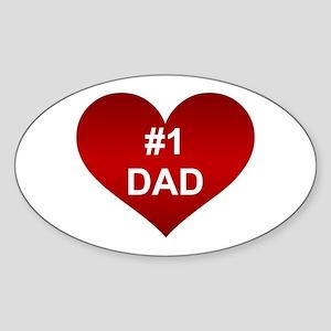 #1 DAD Oval Sticker