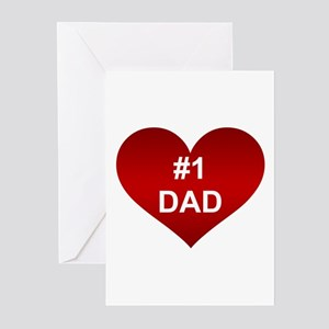 #1 DAD Greeting Cards (Pk of 10)