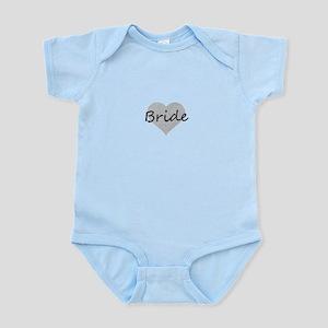 bride silver glitter heart Body Suit