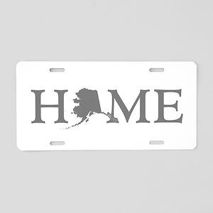 Alaska Home Aluminum License Plate