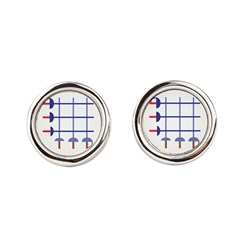 blueswordgridCropped_CPDark Cufflinks