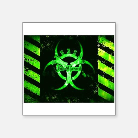 Green Bio-Hazard Sticker
