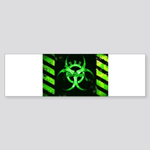 Green Bio-hazard Bumper Sticker