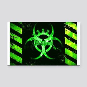 Green Bio-hazard Rectangle Car Magnet