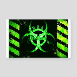 Green Bio-hazard Rectangle Car Magnet
