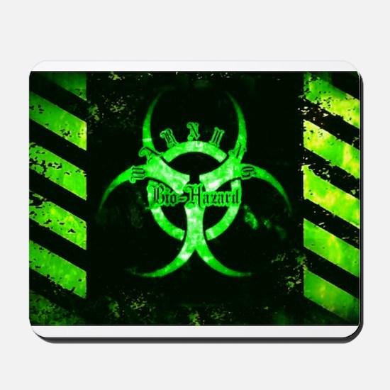 Green Bio-Hazard Mousepad