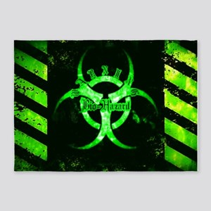 Green Bio-hazard 5'x7'Area Rug