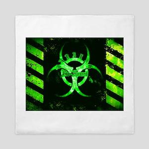 Green Bio-Hazard Queen Duvet