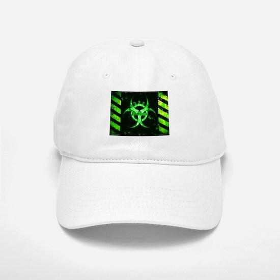 Green Bio-hazard Baseball Baseball Baseball Cap